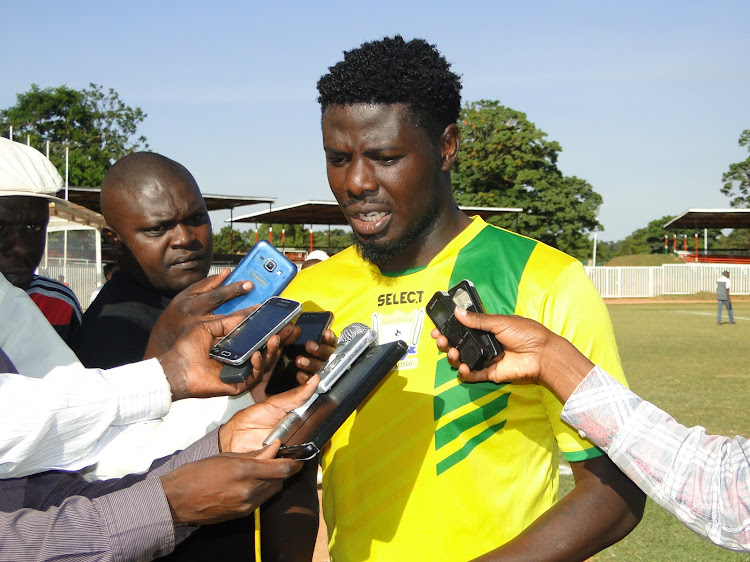 Allan Wanga addressing the press