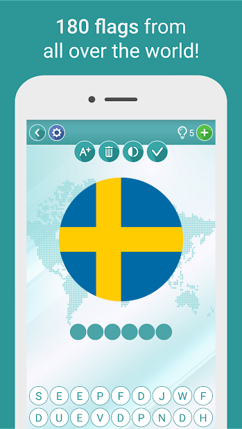 Geography Quiz - flags, maps & coats of arms Android App Screenshot