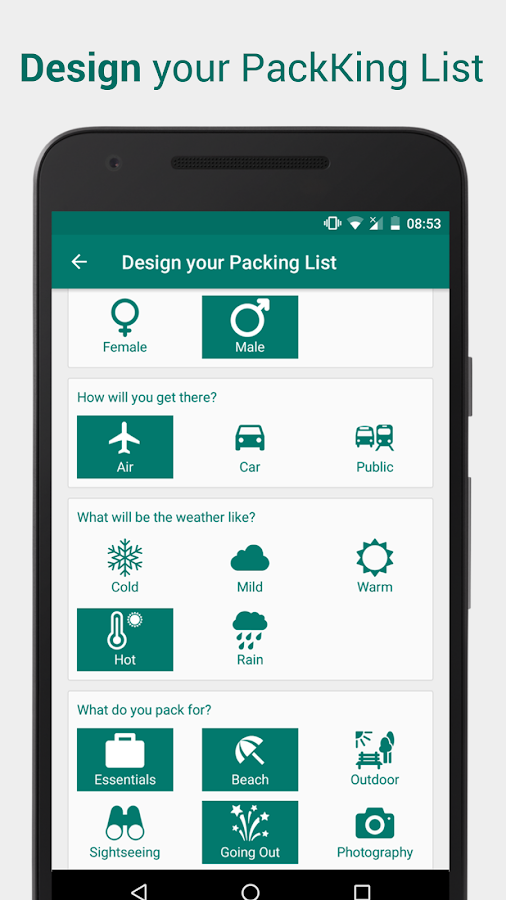 Packing List For Travel Packking Android Apps On
