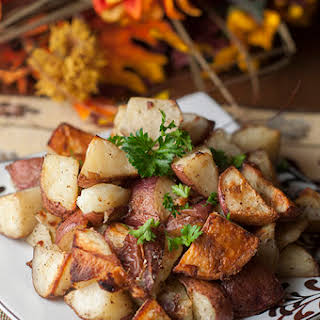 Italian Garlic Oven Roasted Potatoes.