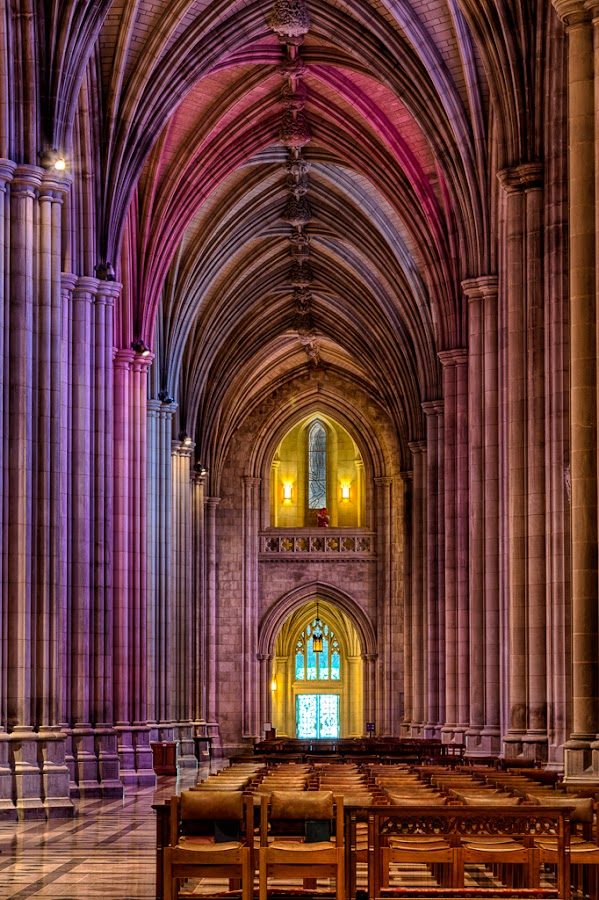 National Cathedral aisle by Izzy Kapetanovic - Buildings & Architecture Places of Worship ( dc, washington, national cathedral )