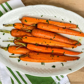 Roasted Carrots with Parsley and Thyme.
