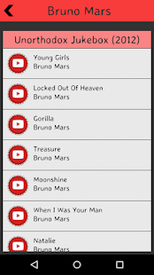 Bruno Mars Lyrics screenshot