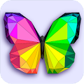 Poly art coloring pages - Color by number low poly APK