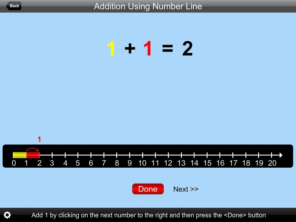 Addition Using Number Line Lit- screenshot