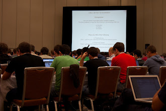 Photo: Lots of guys working on the HTML5 exercises
