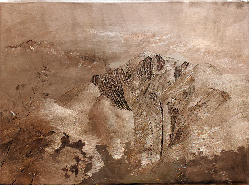 "Photo: Fireweed Mountain Carved copper 9"" x 15"" available $750  2012"