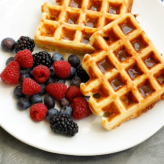 Ham and Cheese Waffles {traditional and gluten free recipes}.
