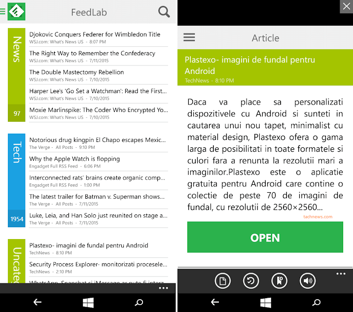 Windows 10 Mobile Apps