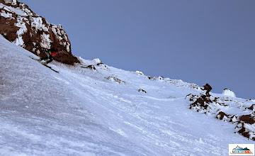 Photo: Skiers: Clarion on the left, Katka on the right, location: volcano Koryaksky, Kamchatka-peninsula