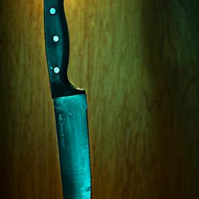 The Anger by Irvin Kelly - Food & Drink Fruits & Vegetables ( orange, fruit, sharp, anger, knives )