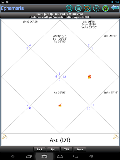 Ephemeris, Astrology Software by Sunil Jain (Google Play