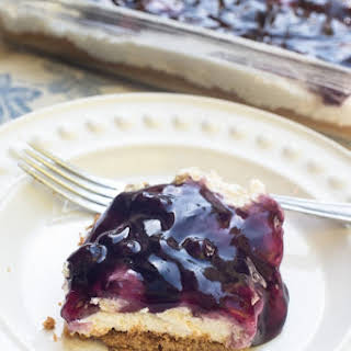Easy Blueberry Cheesecake Dessert.