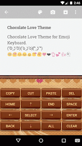 Chocolate Love Emoji Keyboard screenshot 2