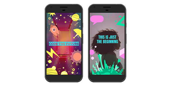 For #MyFutureMe finalists, a geofilter shows dreams for the future