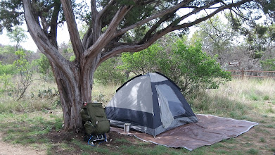 Photo: Idyllic campsite with danger lurking in the background