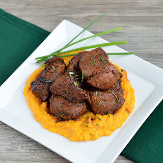 Balsamic Veal and Butternut Purée