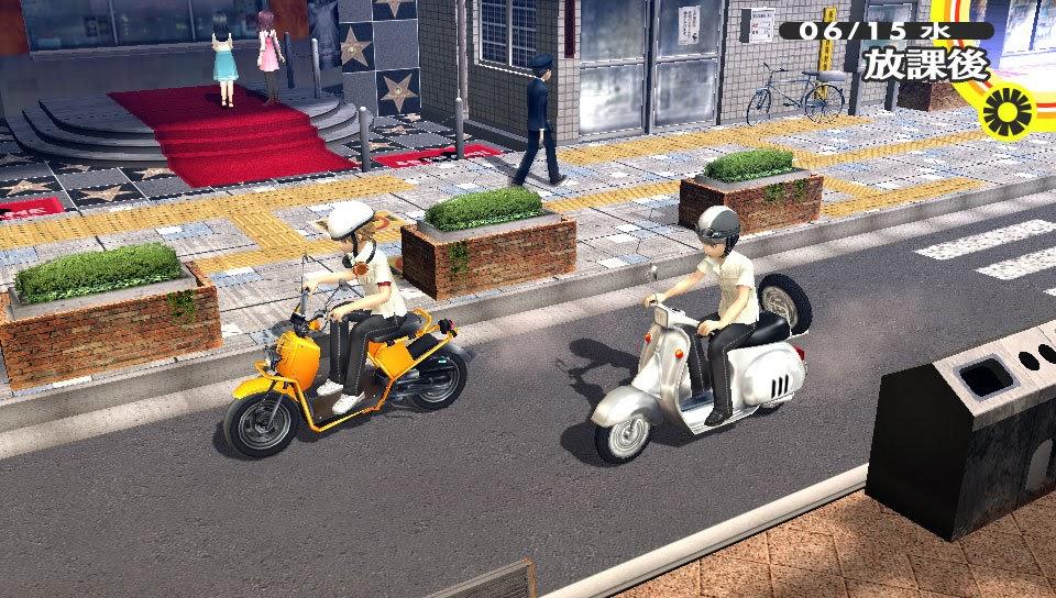 Un mapamundi JRPG sobre una motoneta si que es algo nuevo (Lamentablemente esto no es AKIRA).