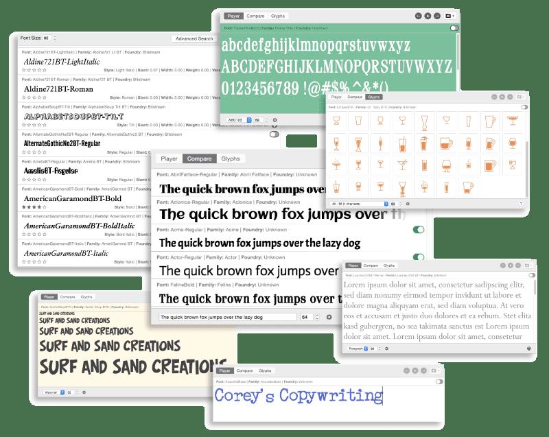 Phần mềm font chữ FontAgent cho MAC