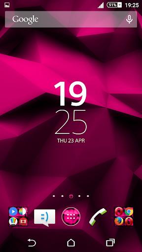 Xperien Theme Pink Polygons