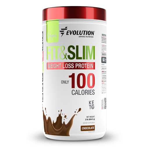 proteina fit&slim vegan evolution chocolate 904.5g nutritek