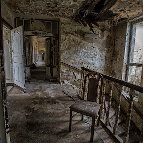 Falling apart by Buffan Walter - Buildings & Architecture Decaying & Abandoned ( urbex, rurex, doorway, corridor, opening, staris, daylight, grime, beautiful decay, decay, abandoned, cripsy,  )
