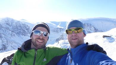 Photo: Selfie in the saddle below Tuolpagorni's peak