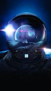 Blue Interstellar Keyboard Theme - náhled