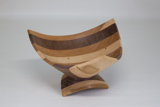 "Photo: Bob Grudberg 7"" x 4"" three corner bowl [mix]"