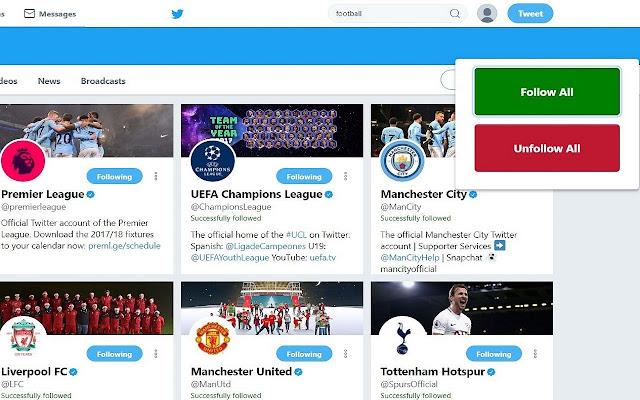 Mass Follow Unfollow in Twitter
