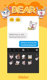 Bear TouchPal Keyboard Sticker - náhled