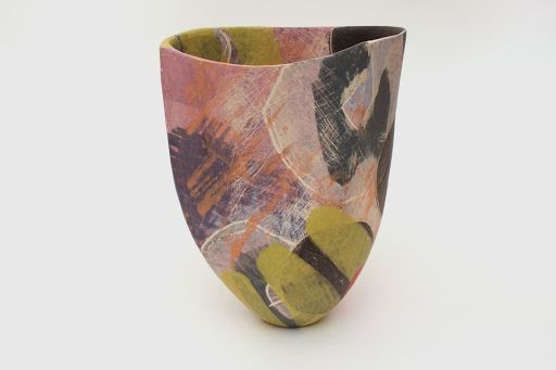 Carolyn Genders 'Chartreuse' Open Ceramic Vessel