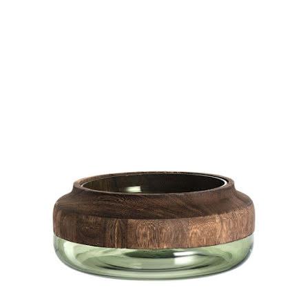 Colletto Vas trä/glas grön 10 x 25 cm