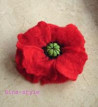 Photo: валяный войлочный цветок-брошь мак