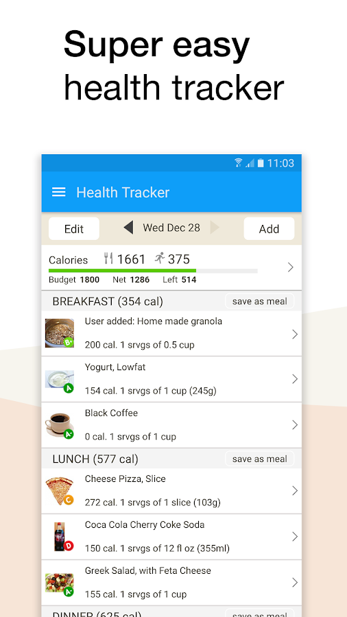 Fooducate Healthy Weight Loss & Calorie Counter- screenshot