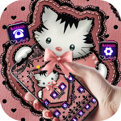 Cute Kitty Lace Bow Theme