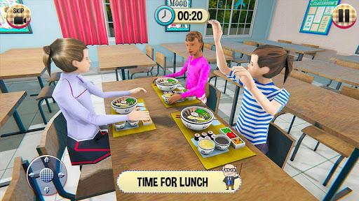 Virtual High School Girl Game- School Simulator 3D apktreat screenshots 1