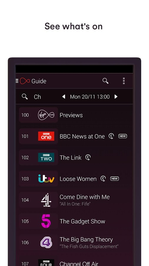 Virgin TV Control- screenshot