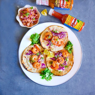 Caribbean Jerk Shrimp Taco with Plum Salsa Recipe