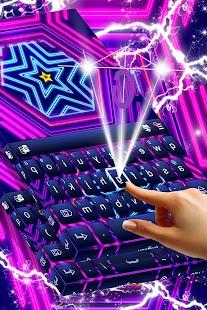 Neon Keyboard Téma zdarma - náhled