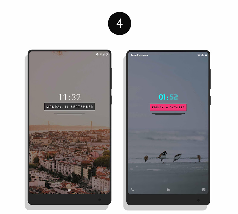 MNML Digital Clock Mods [Substratum] Screenshot 6