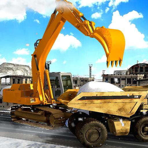 Winter Hill Excavator: Snow Rescue Simulator