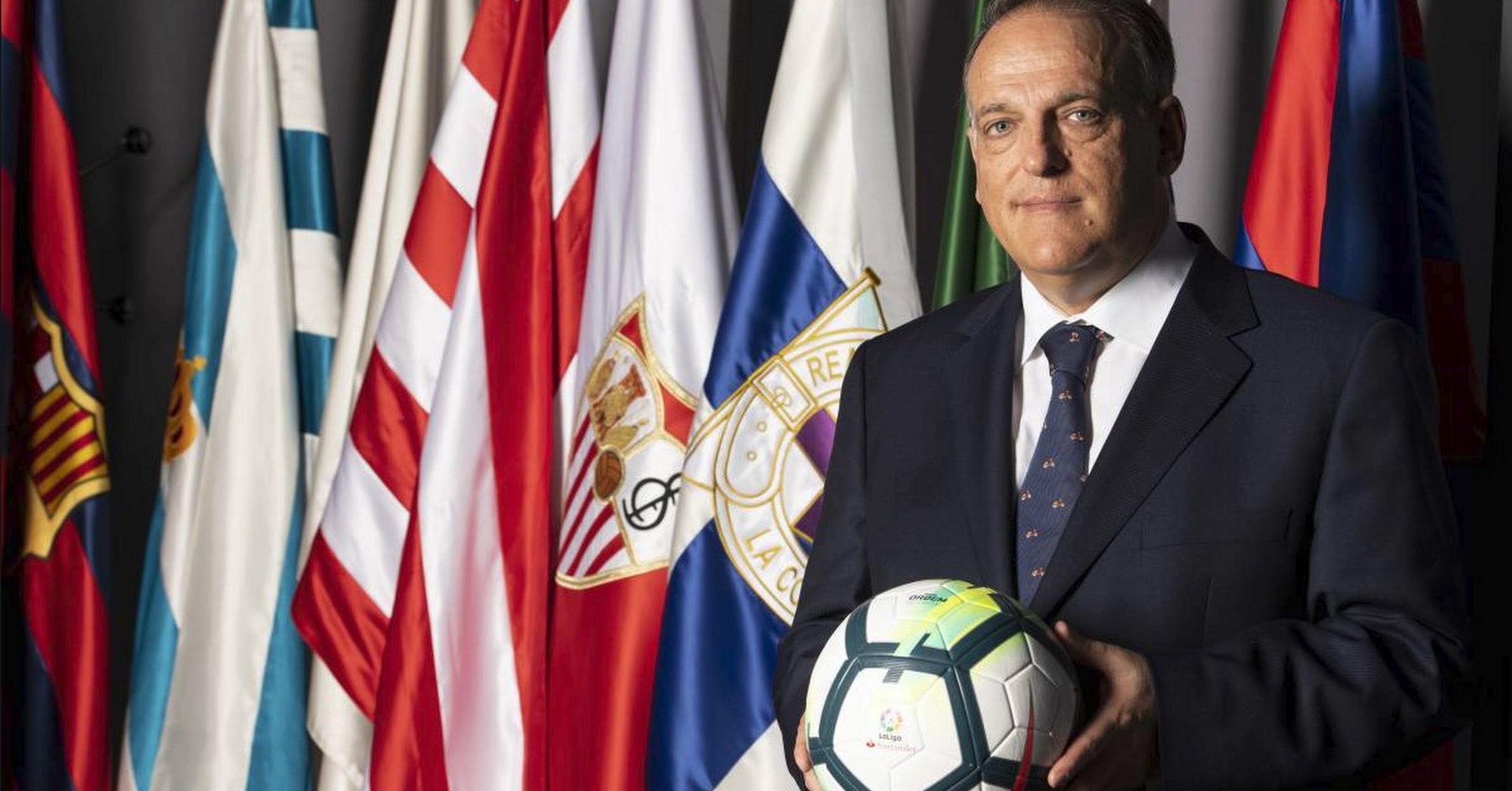 Javier Tebas presidente de la LFP.