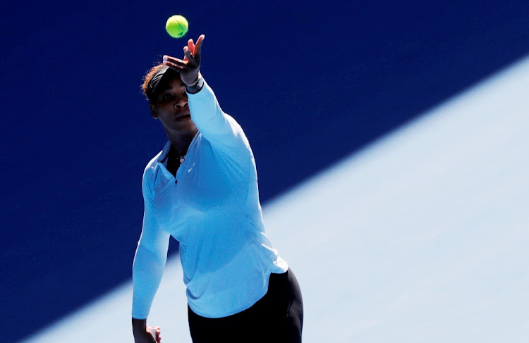 Serena Williams of the US warms up at Melbourne Park, Melbourne, Australia, January 13 2019. Picture: REUTERS/KIM KYUNG-HOON