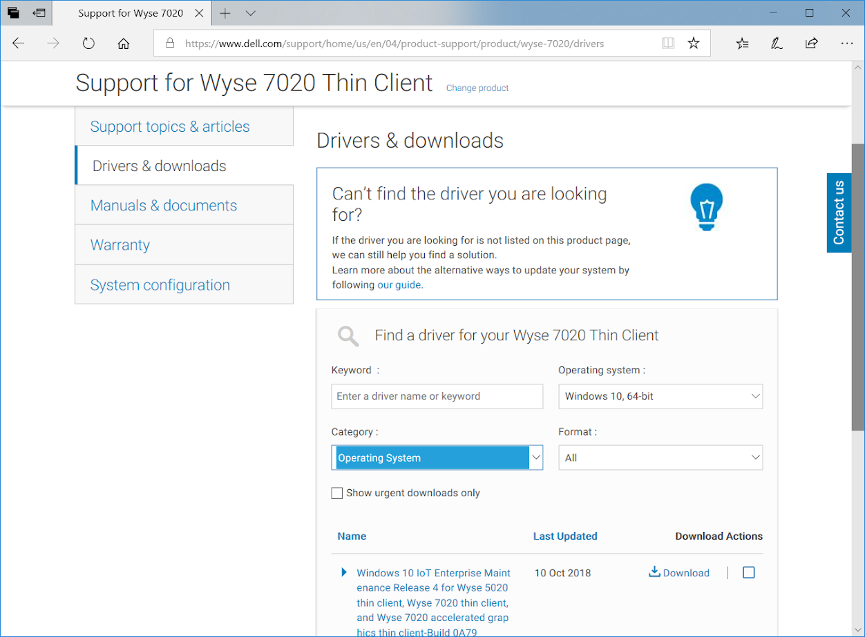 Terence Luk: Build document for Dell Wyse 7020 thin client with