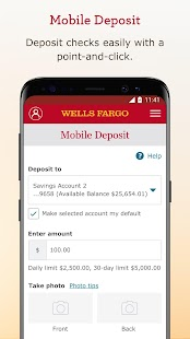 Wells Fargo Mobile Screenshot