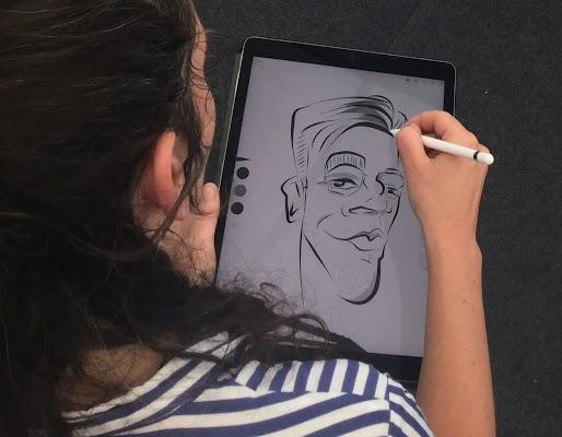 Caricaturas rápidas en formato digital
