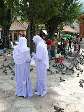 Photo: Local matching girls in the bazar area of Sarajevo
