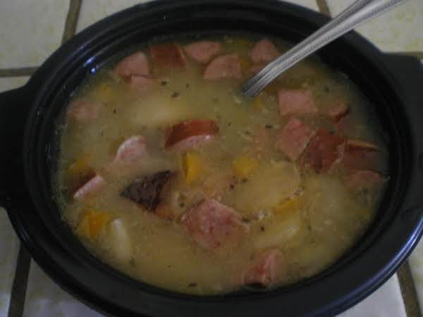 Southern Butter Bean Soup With Smoked Sausage Recipe