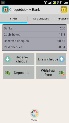 Checkbook + Bank